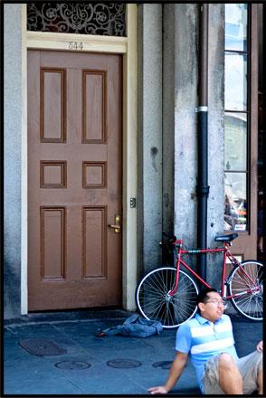 Jackson Square, my bike
